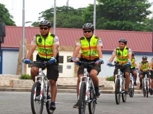 Policiclos saliendo a patrullar